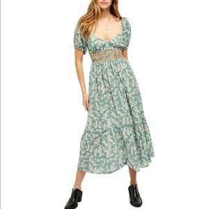 NWT free People Ellie Printed Maxi Dress